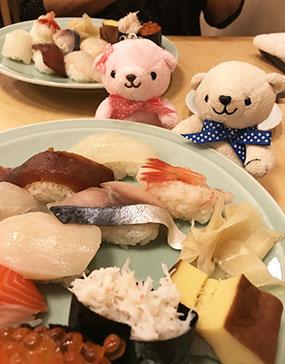 お寿司も美味しかったよ